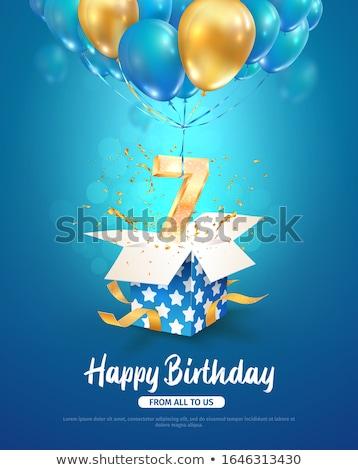 Yıldönümü doğum kutlamak numara vektör lüks Stok fotoğraf © pikepicture