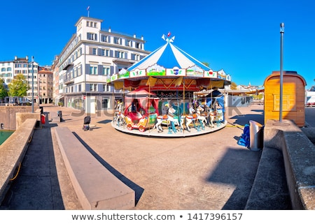 Zurich street scene carousel view stock photo © xbrchx