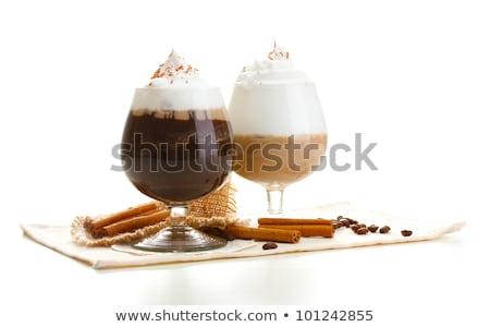 dos · gafas · frescos · yogurt · muesli · vidrio - foto stock © alex9500