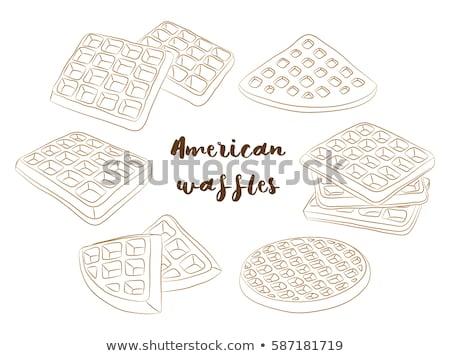 pannenkoeken · boter · ontbijt · cartoon · vers · zoete - stockfoto © netkov1