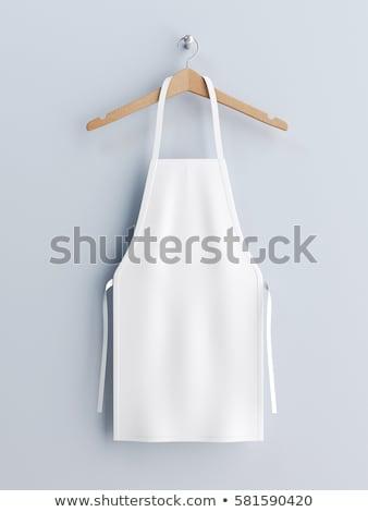 háziasszony · szőke · aranyos · francia · szobalány · izolált - stock fotó © barbaliss