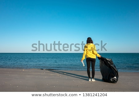 garbage bag on the beach Stock photo © nito