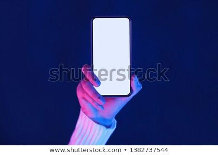 Rózsaszín okostelefon mobiltelefon szerkentyű képregény rajz Stock fotó © rogistok