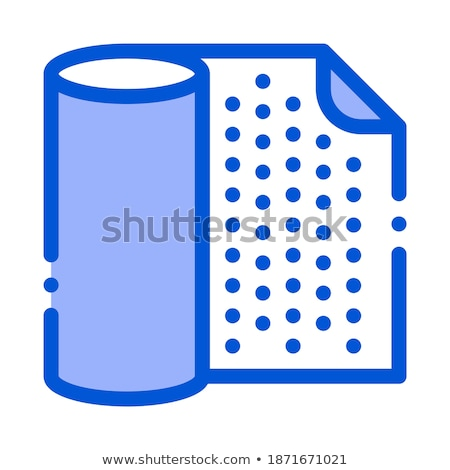 Waterproof Material Napkin Vector Thin Line Icon Stock photo © pikepicture