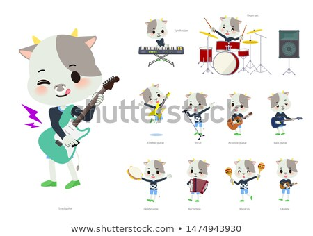 animal Cow boy_pop music Stock photo © toyotoyo