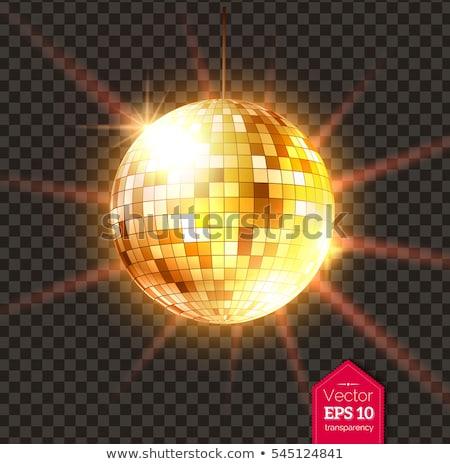 Buli diszkógömb izzó fények diszkó vektor Stock fotó © robuart