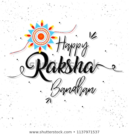 happy raksha bandhan festival banner with decorative rakhi Stock photo © SArts
