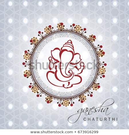 lord ganesha festival of ganesh mahotsav banner design Stock photo © SArts