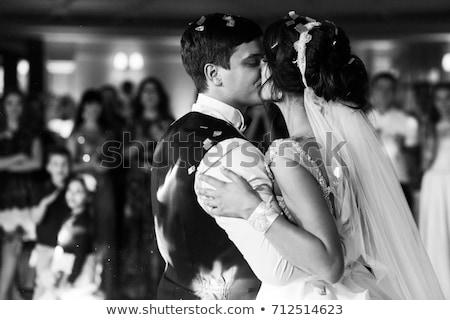 Hombre mujer compromiso fiesta boda personas Foto stock © robuart