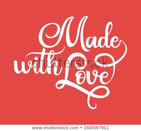 Szeretet fekete kézírás izolált terv csomagolás Stock fotó © MarySan