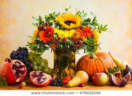 ősz aratás étel csendélet évszak gyümölcsök Stock fotó © Illia