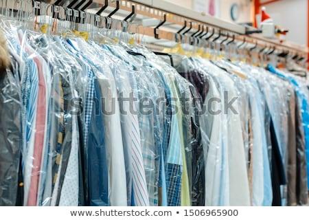 Körhinta ruházat vár száraz takarítás bolt Stock fotó © Kzenon