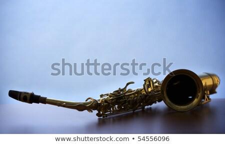 saksofon · görüntü · yalıtılmış · beyaz · müzik · altın - stok fotoğraf © lichtmeister