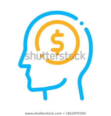 Dolar sikke para adam siluet akla Stok fotoğraf © pikepicture
