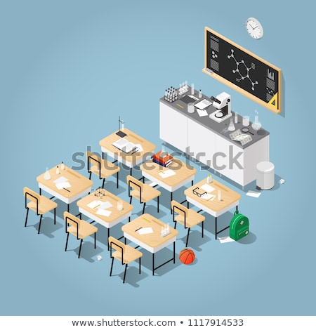 química · lección · aula · experiencia · ninos - foto stock © robuart