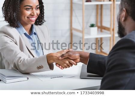 Kierownik uścisk dłoni kobiet kandydat wywiad ludzi Zdjęcia stock © AndreyPopov