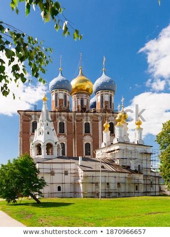 Kathedraal Rusland onderstelling Kremlin jaren architect Stockfoto © borisb17