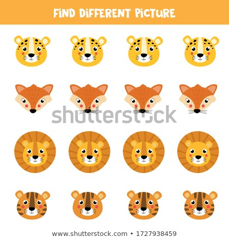 differences game with safari animal characters stock photo © izakowski