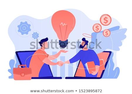 Anjo empreendedorismo iniciativa investimento idéia Foto stock © RAStudio