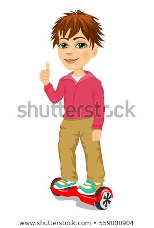 Boy Rides on Segway Personal Transporter Gyroboard Stock photo © robuart
