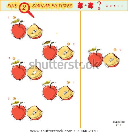 Ort Unterschied Apfel Spiel Kinder Erwachsene Stock foto © Olena