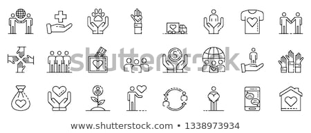 Stock photo: Volunteering Work, Children Community, Web Vector