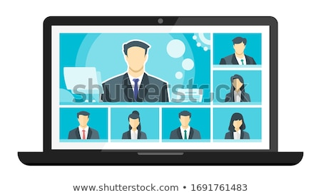man and woman on video seminar conference boss stock photo © robuart
