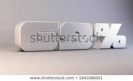 altmış · yüzde · beyaz · yalıtılmış · 3d · illustration · para - stok fotoğraf © iserg