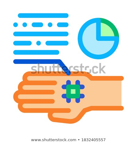 skin cell biohacking icon vector illustration stock photo © pikepicture