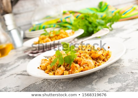 bulgur with shrimps Stock photo © tycoon