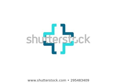 Doktor çapraz logo tasarımı eczane logo şablon Stok fotoğraf © kyryloff