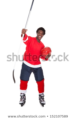 hockey player over white background Stock photo © Lopolo
