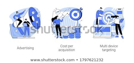Ppc campagne vector metaforen inhoud marketing Stockfoto © RAStudio
