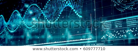 Scientist with diagram of human DNA Stock photo © bluering
