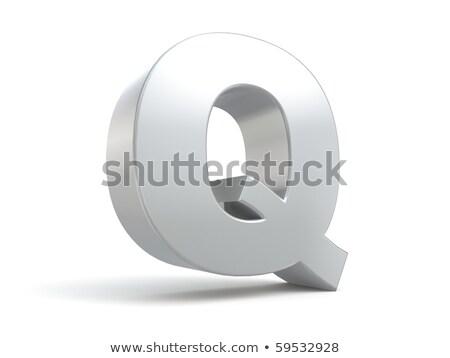 金属 フォント 文字q 3D 3dのレンダリング 実例 ストックフォト © djmilic