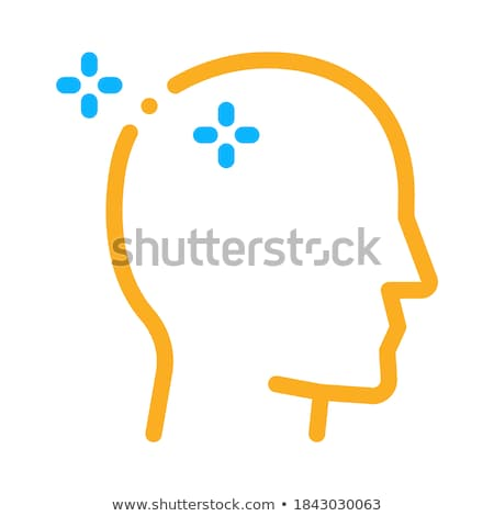 Baldheaded Man Icon Vector Outline Illustration Stock photo © pikepicture