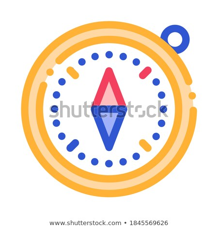 Compass Alpinism Course Detector Tool Vector Icon Stock photo © pikepicture