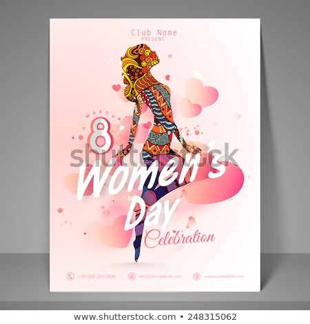 Gelukkig elegante wensen kaart sjabloon Stockfoto © SArts