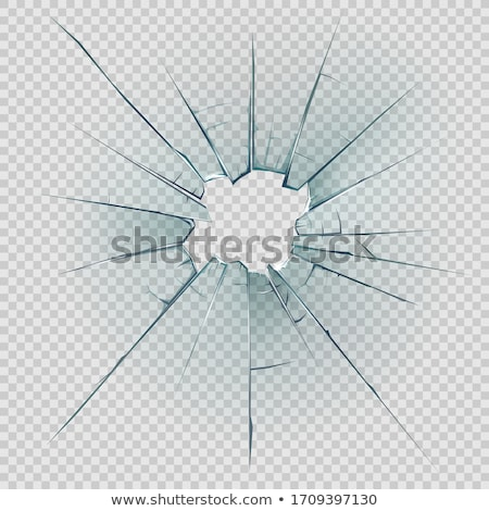 Pieces of transparent glass broken or cracked  Stock photo © Arsgera