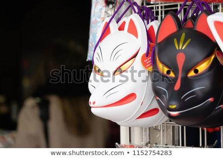Junger Mann rot Fuchs Maske jungen Stock foto © nito