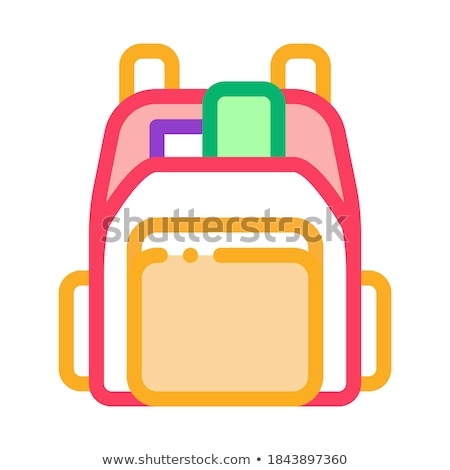 Human Shop Backpack Icon Vector Outline Illustration Stock photo © pikepicture