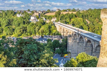 View of Dinan and the viaduct Stock photo © tilo
