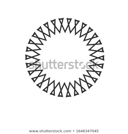 Creative geometric sun circle concept. rays out of triangles in linear style. Stock Vector illustrat Stock photo © kyryloff