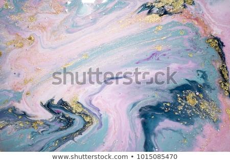 Artístico abstrato textura dourado acrílico paint brush Foto stock © Anneleven