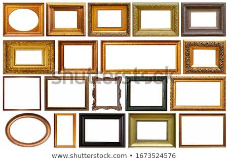 vintage · золото · квадратный · кадры · пусто · стены - Сток-фото © lithian