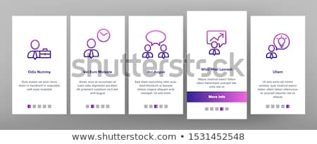 Business Meeting Onboarding Elements Icons Set Vector Stock photo © pikepicture