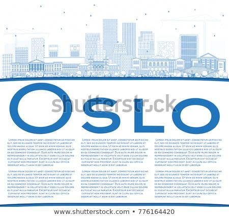 Oslo linha do horizonte azul edifício cópia espaço Foto stock © ShustrikS