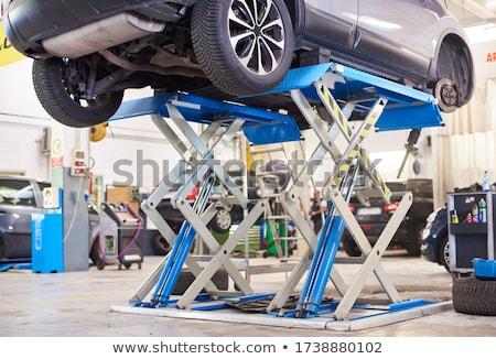Aleación coche disco neumático moderna cuatro Foto stock © hamik