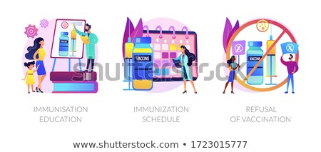 Immunisation policy and implementation abstract concept vector i Stock photo © RAStudio