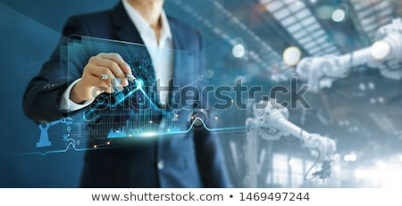 Smart Robot with Interface, Modern Technologies Stock photo © robuart
